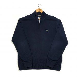 vintage_lacoste_navy_essential_logo_quarter_zip_knit_jumper
