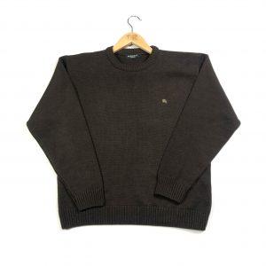 vintage_burberry_essential_logo_brown_knit_jumper