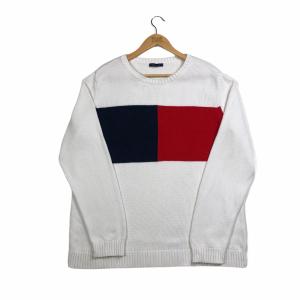 vintage_tommy_hilfiger_flag_logo_white_knit_jumper