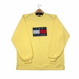 vintage_bootleg_tommy_hilfiger_yellow_sweatshirt