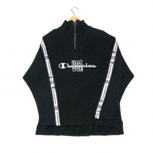 vintage_clothing_champion_tape_logo_black_sweatshirt