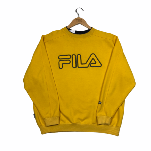 vintage_fila_embroidered_spell_out_yellow_sweatshirt