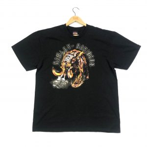 vintage harley-davidson printed back black t-shirt in size extra large