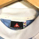 vintage le coq sportif blue striped football shirt