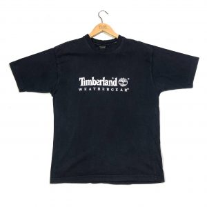 vintage timberland embroidered logo navy t-shirt