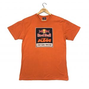 vintage red bull ktm factory racing organge graphic t-shirt