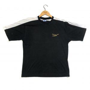 vintage reebok embroidered essential logo black t-shirt