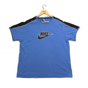 vintage nike printed logo blue t-shirt