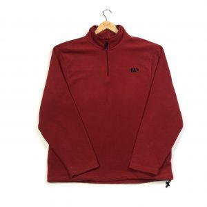 vintage gap quarter-zip red fleece