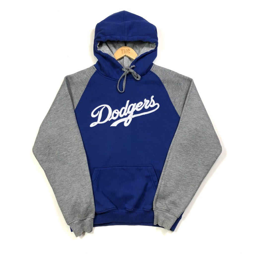 vintage mlb la dodgers embroidered usa hoodie
