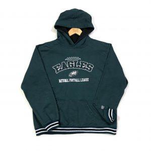 vintage nfl philadelphia eagles embroidered green hoodie