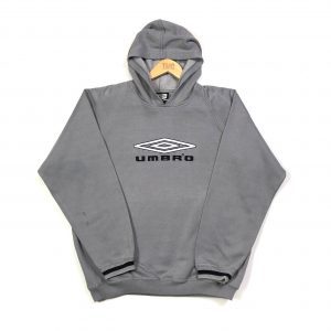vintage umbro embroidered big logo grey hoodie