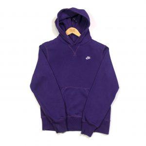 vintage nike essential logo purple hoodie