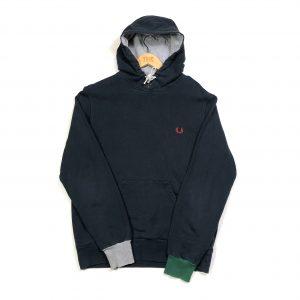 vintage fred perry essential logo navy hoodie