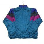 vintage 90s adidas blue shell jacket wit trefoil logo