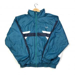 vintage 90s reebok blue zip up track jacket