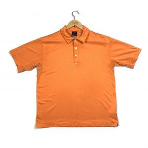 vintage nike centre swoosh logo orange polo shirt
