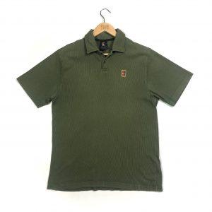 vintage nike court khaki corduroy polo shirt