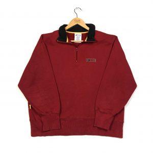 vintage red tommy hilfiger quarter-zip sweatshirt