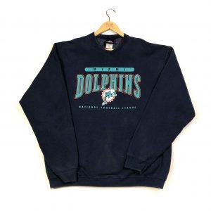 vintage usa nfl miami dolphins navy sweatshirt