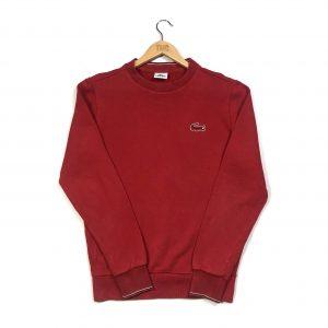 vintage lacoste essential logo red sweatshirt
