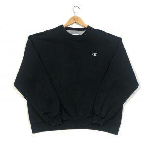 vintage champion essential c logo black sweatshirt