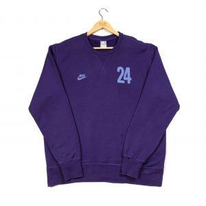 vintage nike purple sweatshirt with printed 24 number