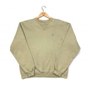 vintage champion c logo beige sweatshirt