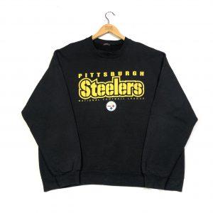 vintage nfl pittsburgh steelers printed american sweatshirt