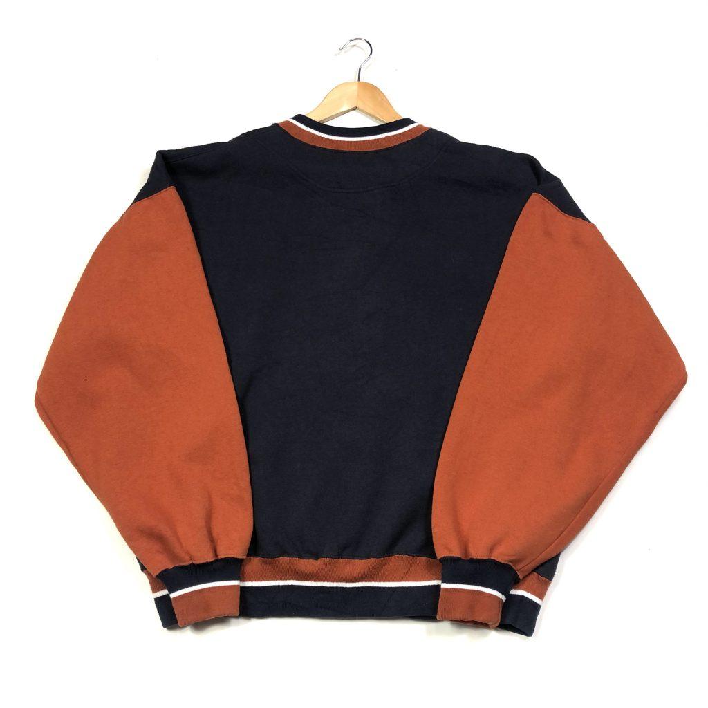 vintage usa cowboys embroidered navy floral sweatshirt