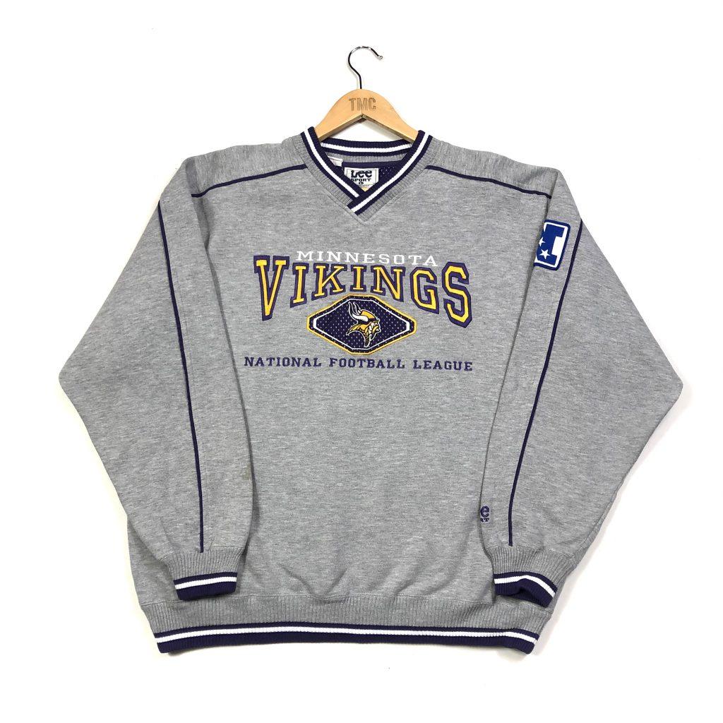 vintage nfl minnesota vikings embroidered american sweatshirt