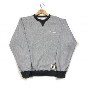 vintage champion scribble logo grey sweatshirt