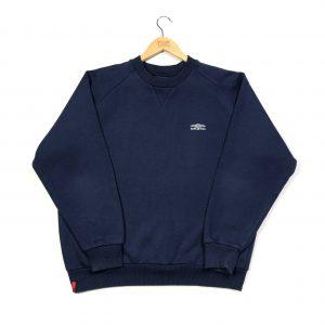 umbro essential logo vintage sweatshirt in navy