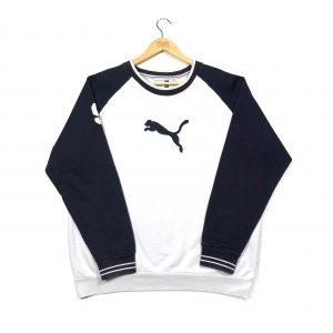 vintage puma embroidered white sweatshirt