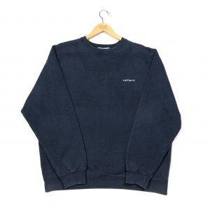 vintage carhartt essential navy sweatshirt
