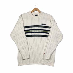 vintage kickers branded cream knit jumper