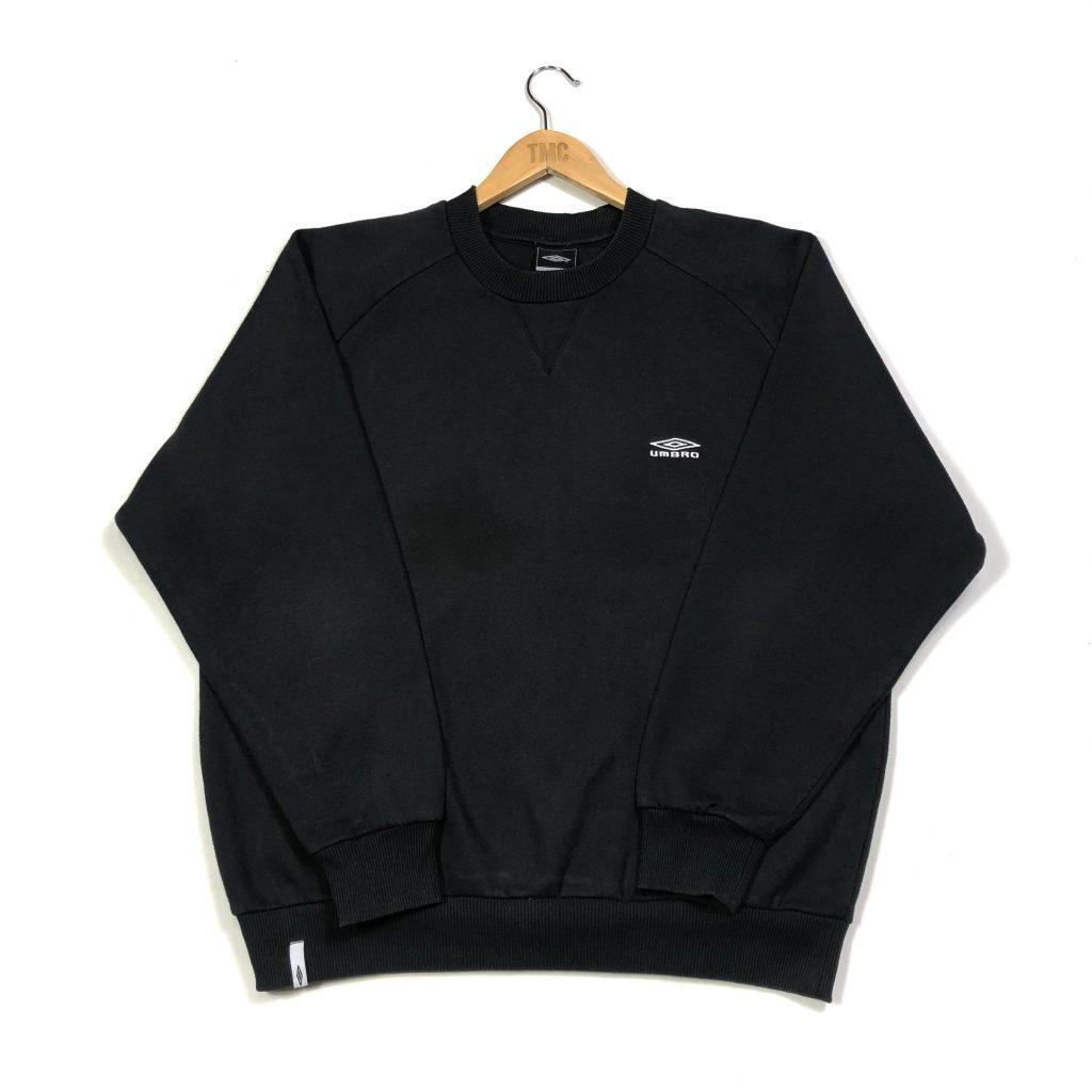 umbro essential logo black vintage sweatshirt