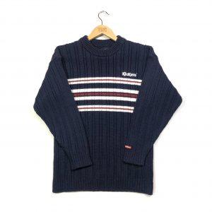 vintage kickers navy ribbed knit jumper