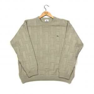 vintage lacoste essential beige knit jumper