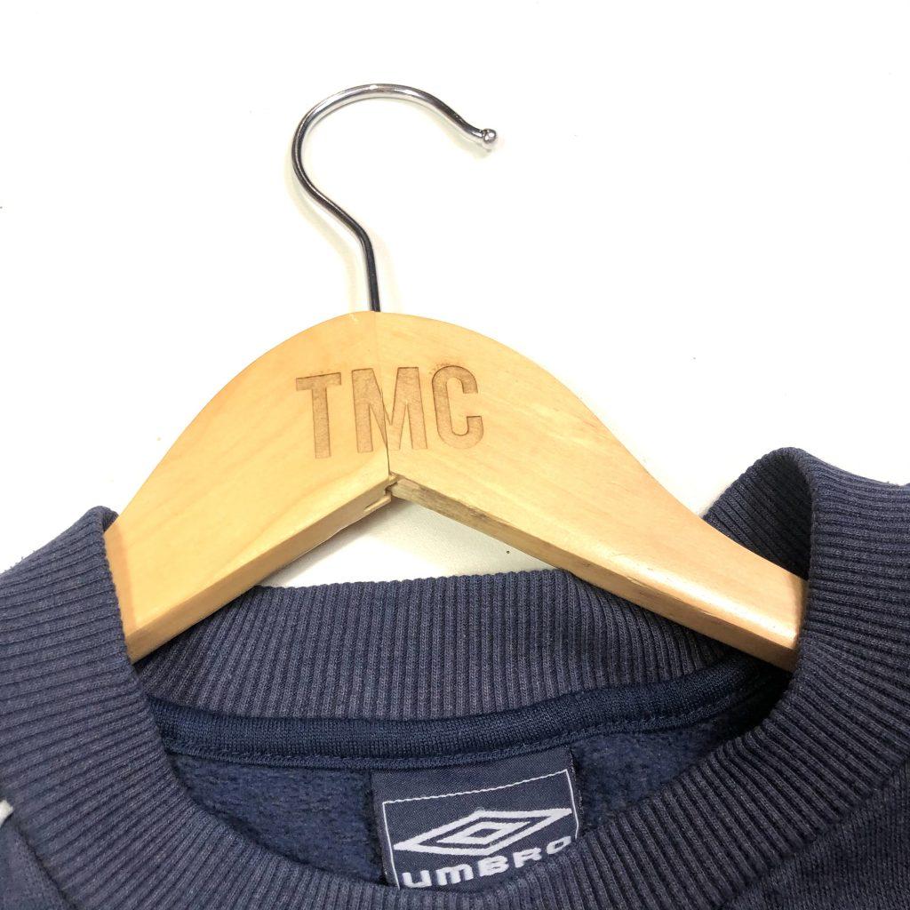 vintage umbro essential logo navy sweatshirt