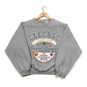 vintage ellesse embroidered grey sweatshirt