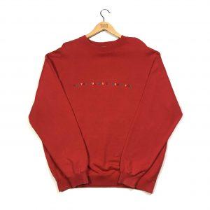 vintage united colours of benetton multicoloured embroidered sweatshirt