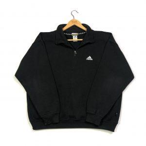 vintage adidas quarter-zip sweatshirt in black