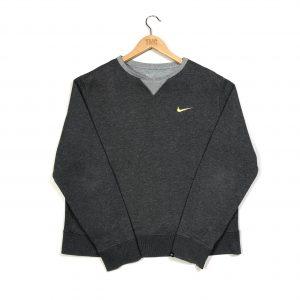 nike essential grey sweatshirt with yellow swoosh logo