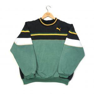 vintage puma jamaican essential logo, greensweatshirt
