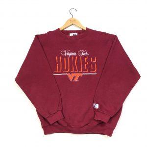 vintage embroidered usa virginia tech american football sweatshirt