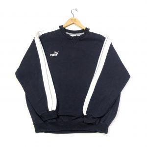 vintage puma essential logo navy sweatshirt