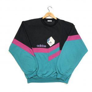 vintage 90s rare adidas centre logo sweatshirt