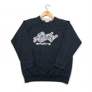 vintage fubu embroidered black sweatshirt