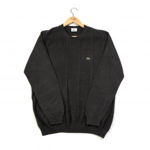 vintage lacoste brown knit jumper